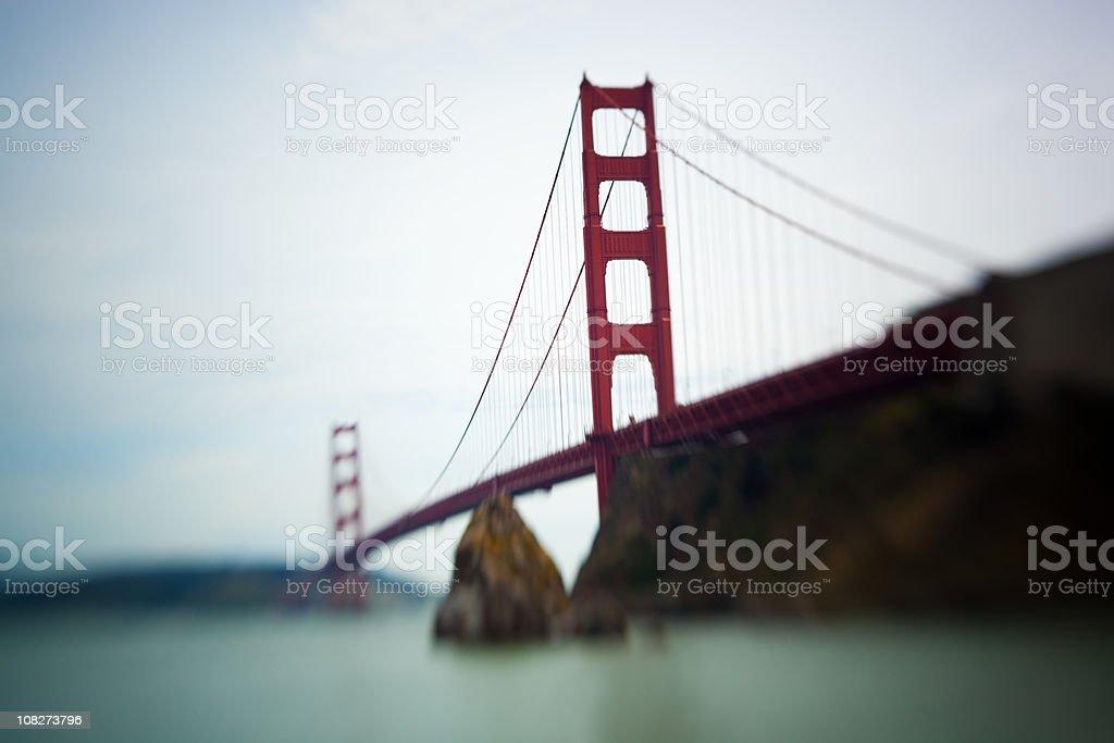 Golden Gate bridge with Blur royalty-free stock photo