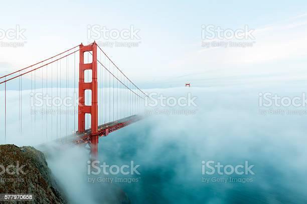 Golden gate bridge with low fog san francisco picture id577970658?b=1&k=6&m=577970658&s=612x612&h=kjswbyt9stks wnstqjhwq5ieh5z02o41lmgydt2fck=
