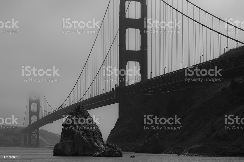 Golden Gate B&W royalty-free stock photo