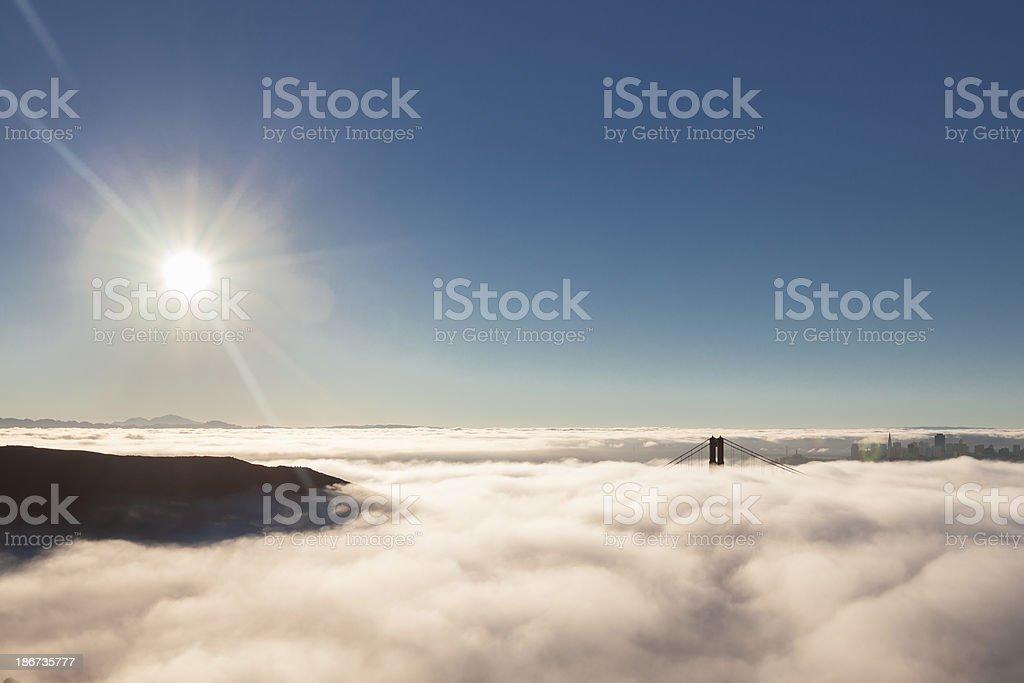 Golden Gate Fog royalty-free stock photo
