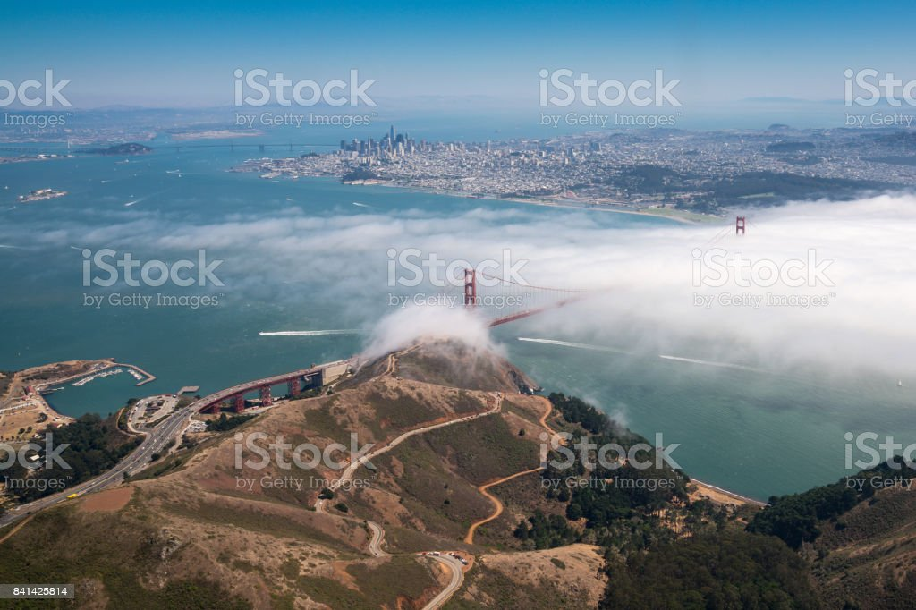 Golden Gate from the Air stock photo