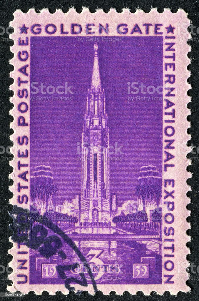 Golden Gate International Exposition Stamp royalty-free stock photo