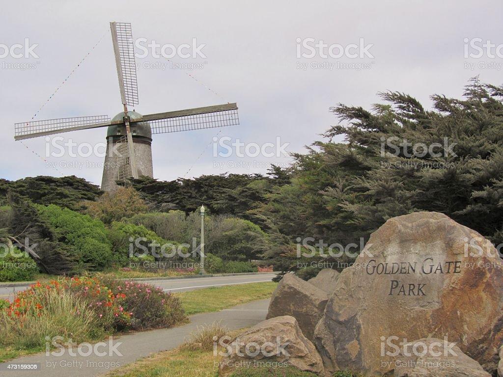 Golden Gate Park Windmill stock photo
