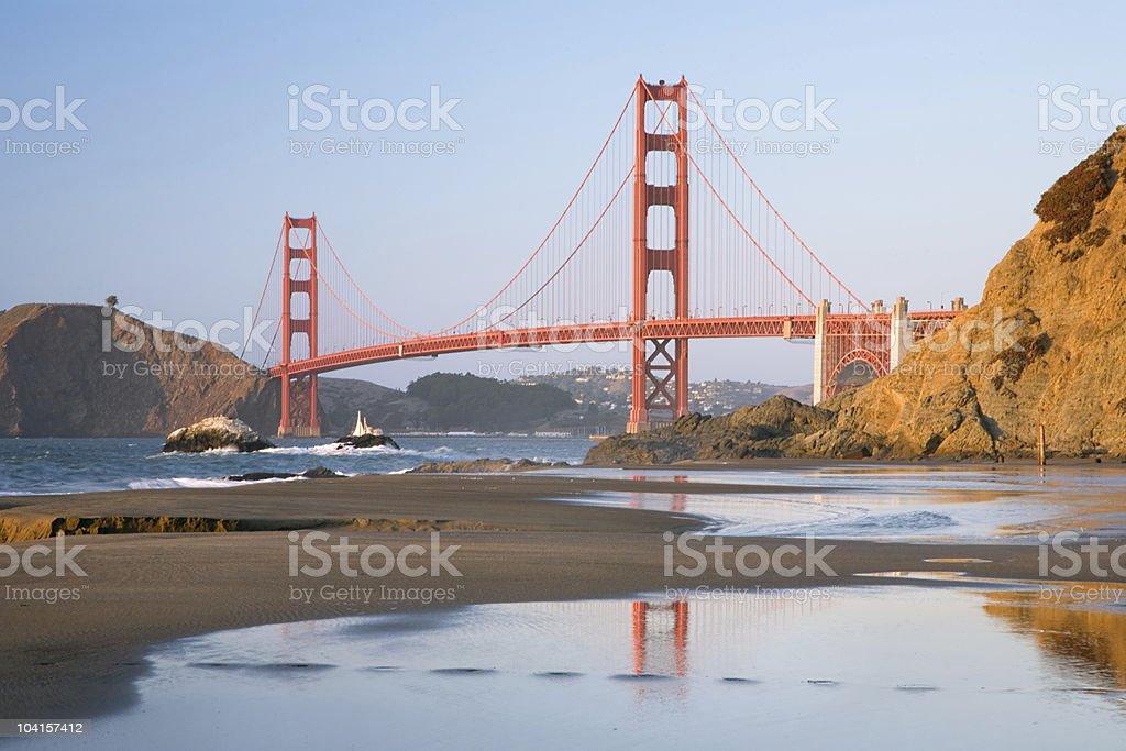 Golden Gate Reflection - Horizontal royalty-free stock photo