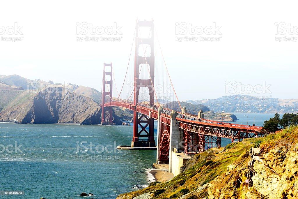Golden Gate Rush Hour, San Francisco royalty-free stock photo