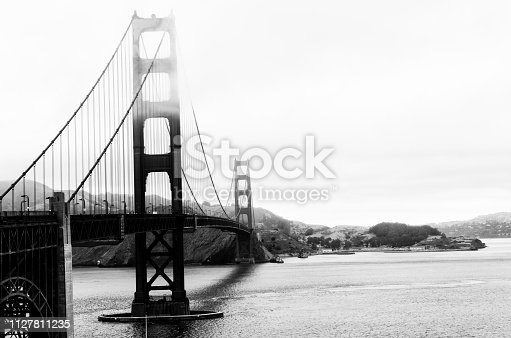 Golden Gate, San Francisco. Black And White.