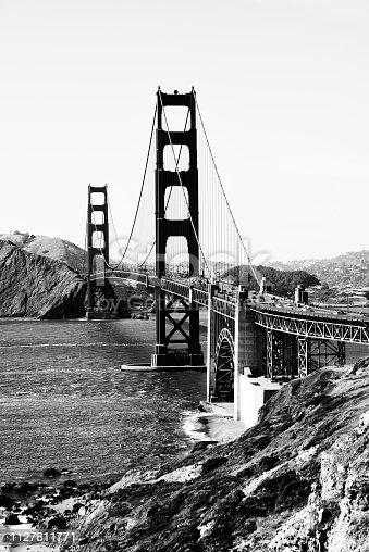 Golden Gate, San Francisco. Black And White.