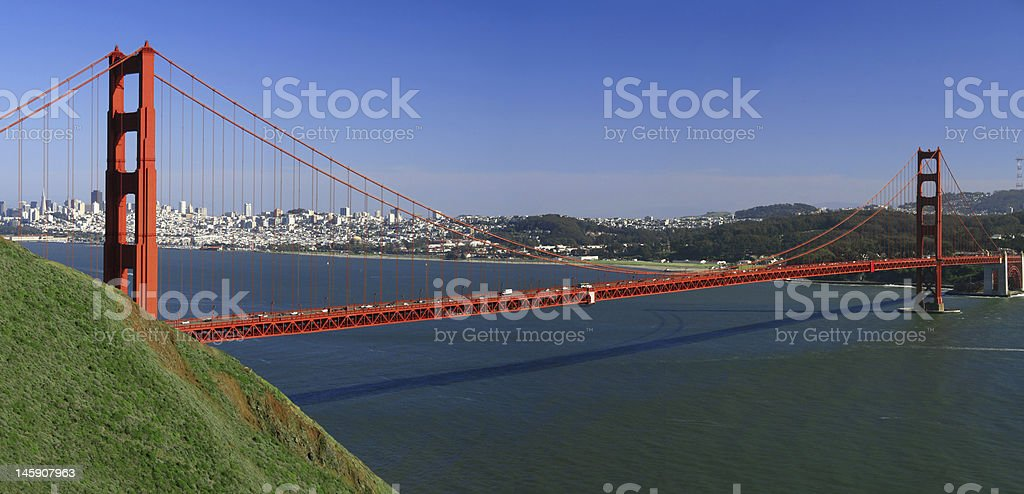 Golden Gate San Francisco Panorama stock photo