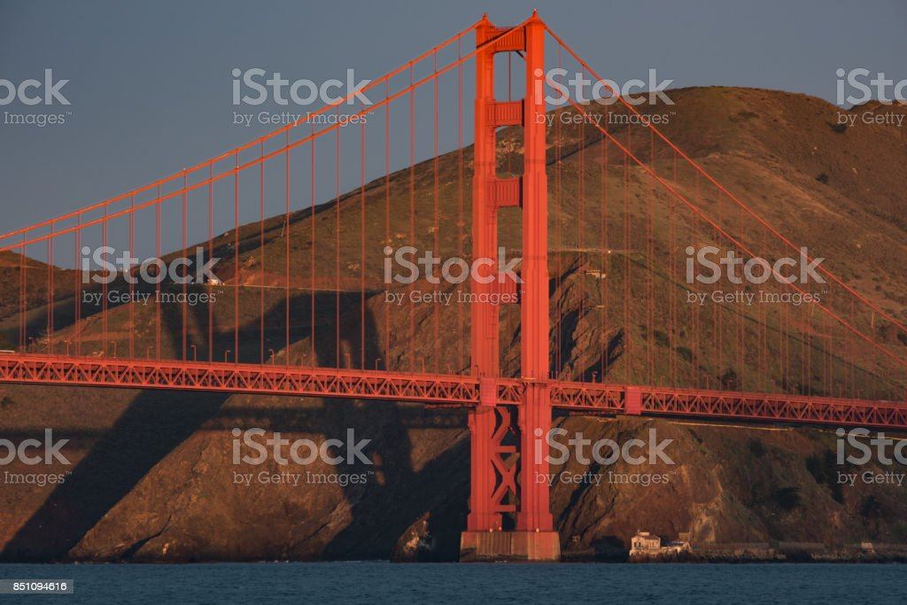Golden Gate Shadows stock photo