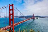 Golden Gate and the Golden Gate strait, San Francisco, California