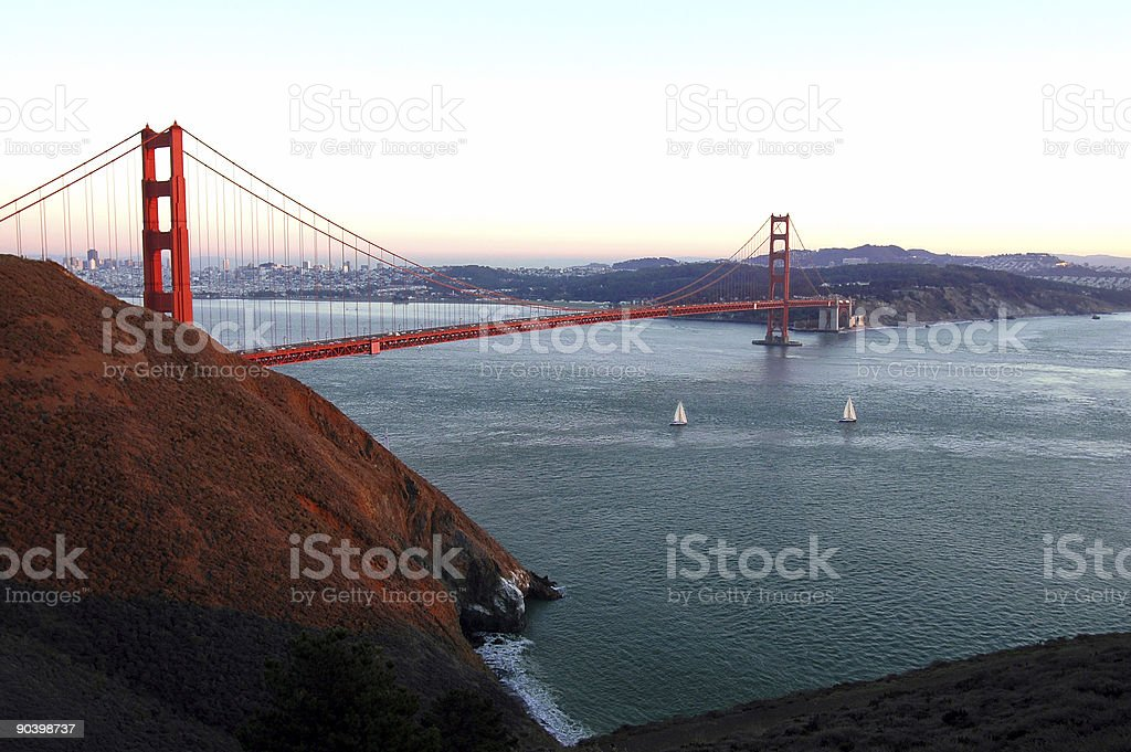 Golden Gate Sunset royalty-free stock photo