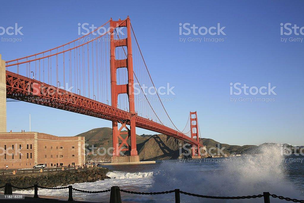 Golden Gate Wave - San Francisco, California, USA royalty-free stock photo