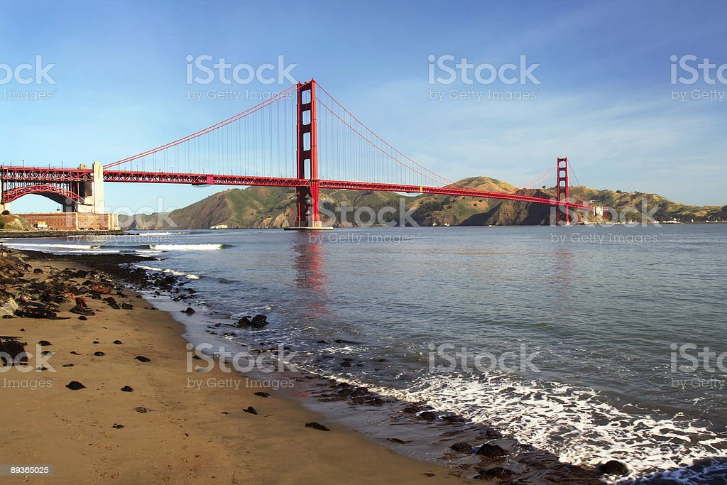 Golden Gate with Beach royalty-free stock photo