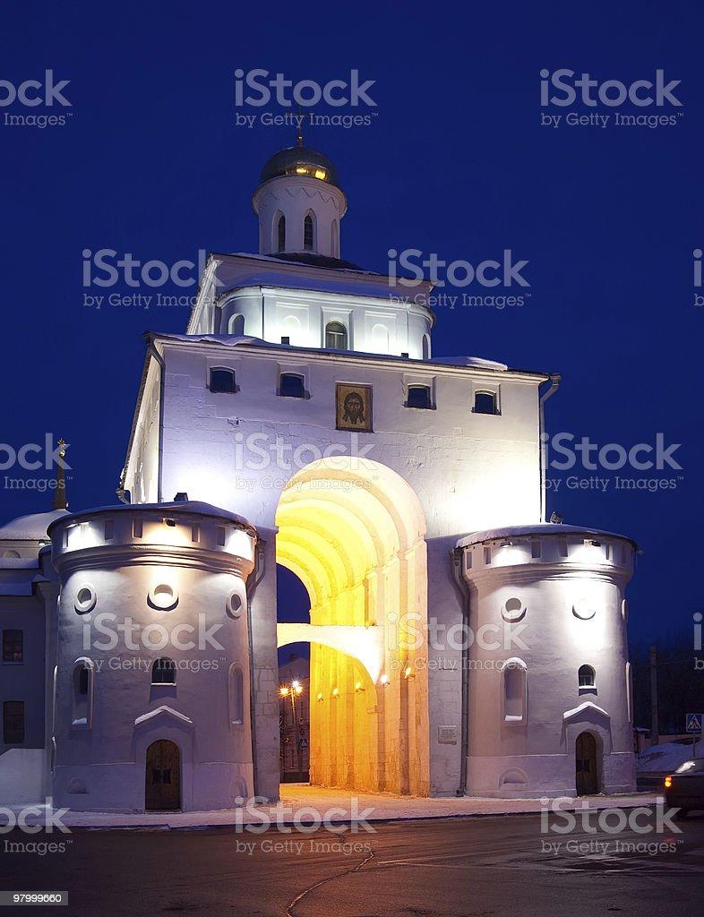 Golden portões Vladimir foto royalty-free