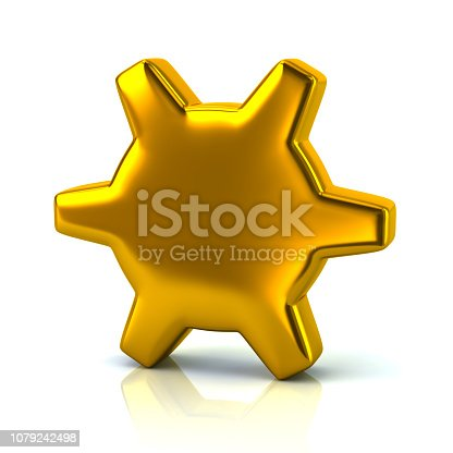 175960311 istock photo Golden gear settings icon 1079242498