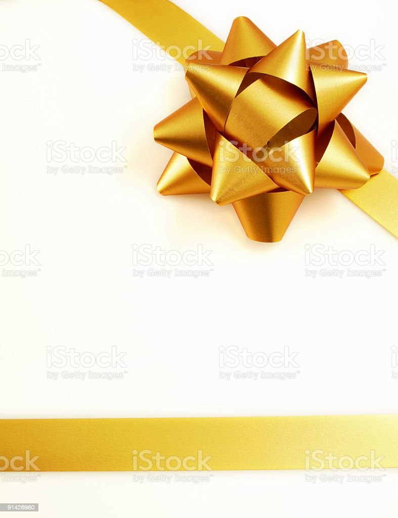 Golden Gift royalty-free stock photo
