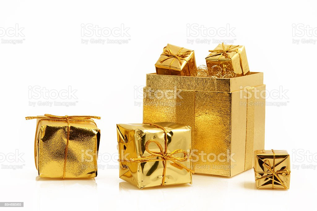 Golden Gifts Series royalty-free stock photo