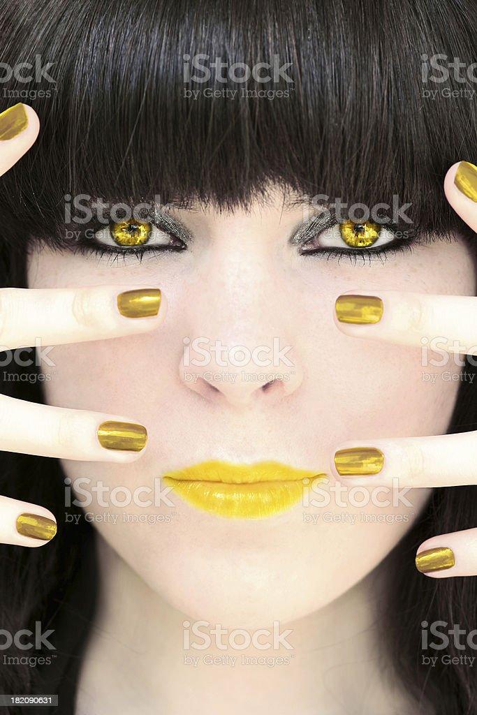 Golden Girl royalty-free stock photo