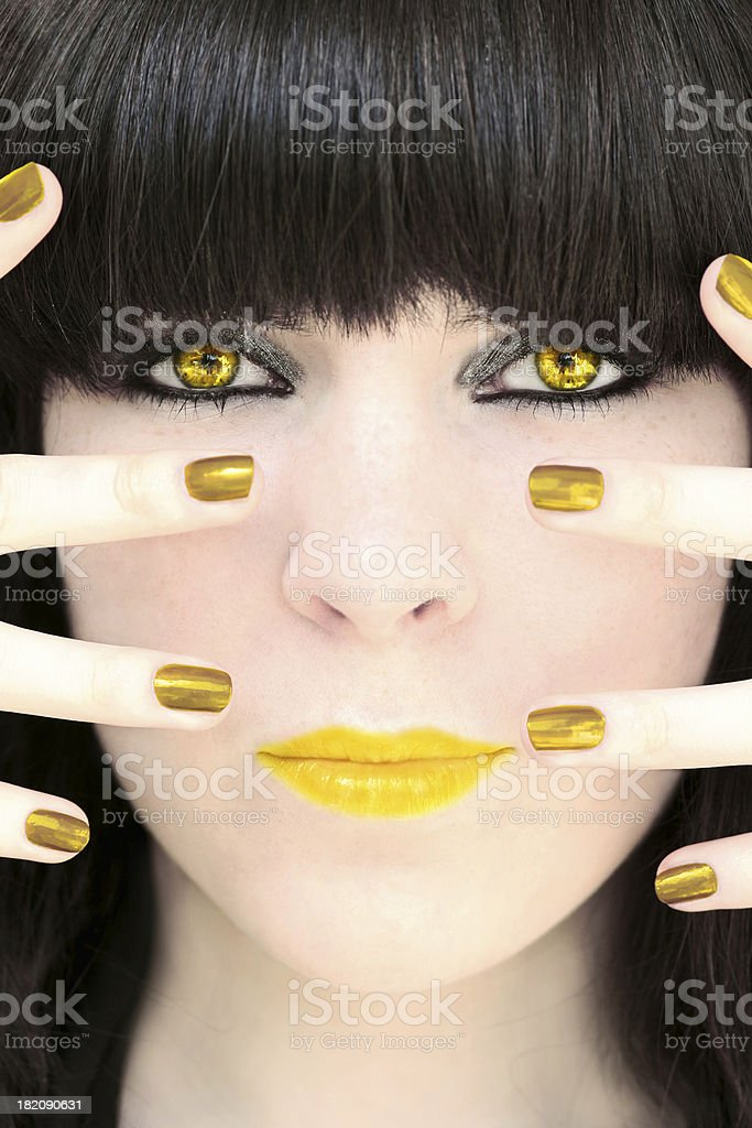 Golden Girl stock photo