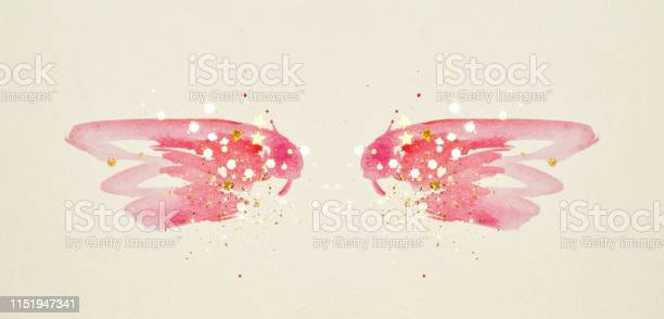 Golden glitter and glittering stars on abstract pink watercolor wings picture id1151947341?b=1&k=6&m=1151947341&s=612x612&h=pfhjv6lskz3jx9hhb3ku7bguiti7x6dfzlqo02hqrui=