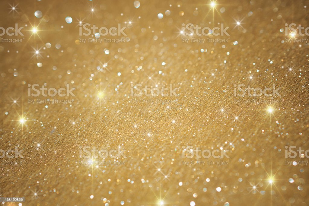 Golden glitter christmas background stock photo
