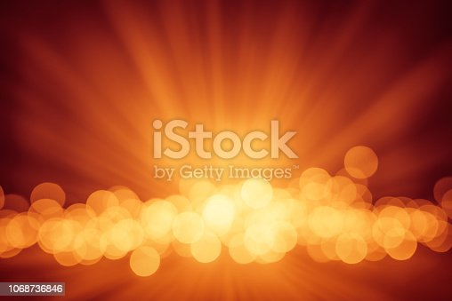 Golden glitter defocused lights christmas abstract background