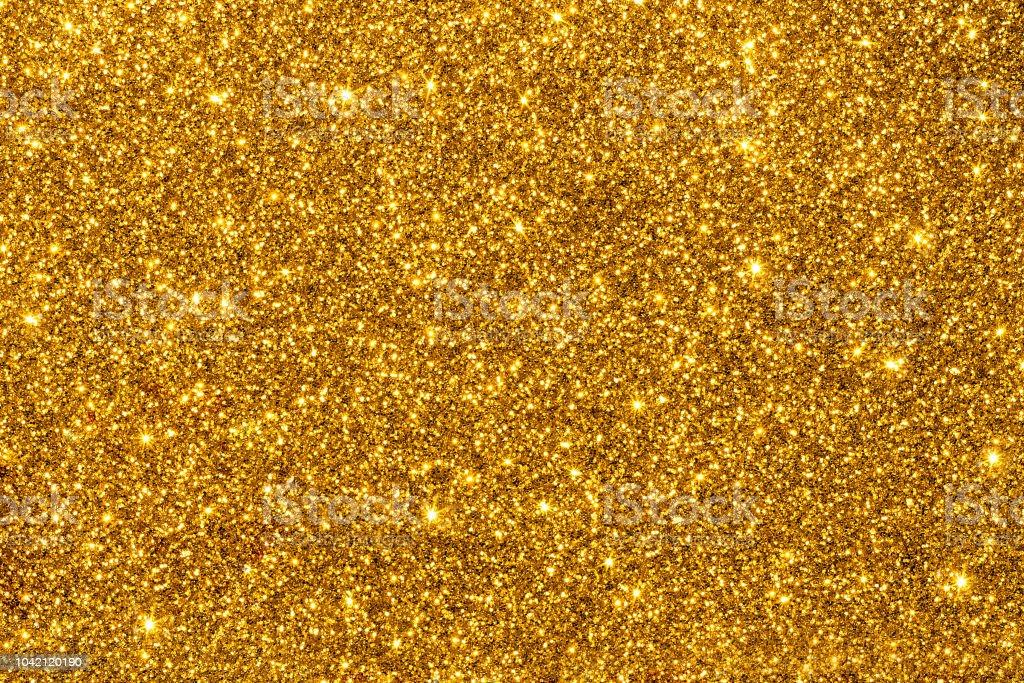 Paillettes dorées pour plus de texture ou de fond - Photo de Abstrait libre de droits