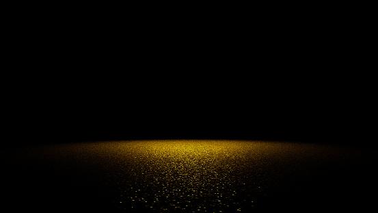 istock golden glitter on a flat surface lit by a bright spotlight 645448998