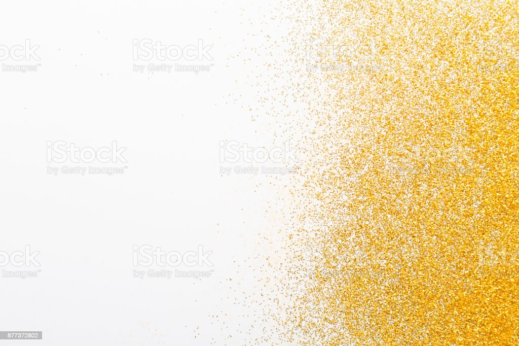 Golden glitter sand texture, abstract background. stock photo