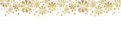 Golden glitter snowflake borders