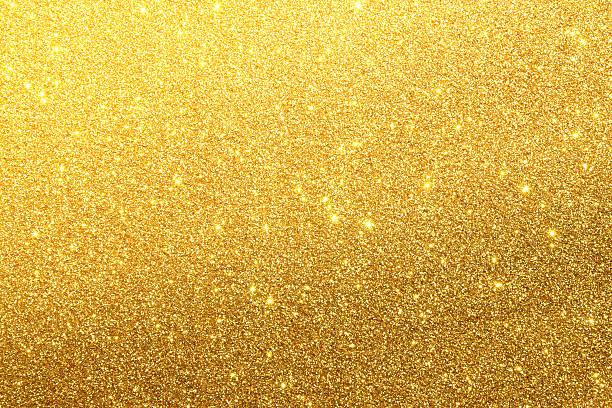 ゴールドのグリッターテクスチャ背景 ストックフォト