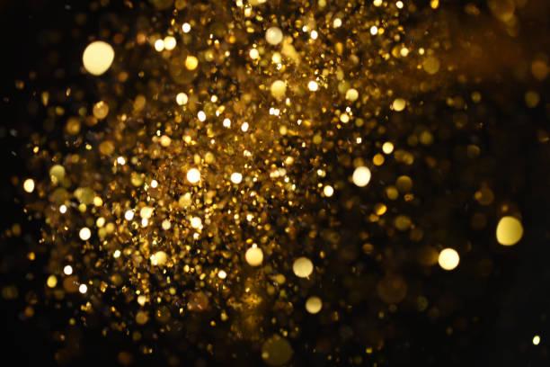 texture glitter dorata colorfull sfocato sfondo astratto per compleanno, anniversario, matrimonio, capodanno o natale. - immerse in the stars foto e immagini stock