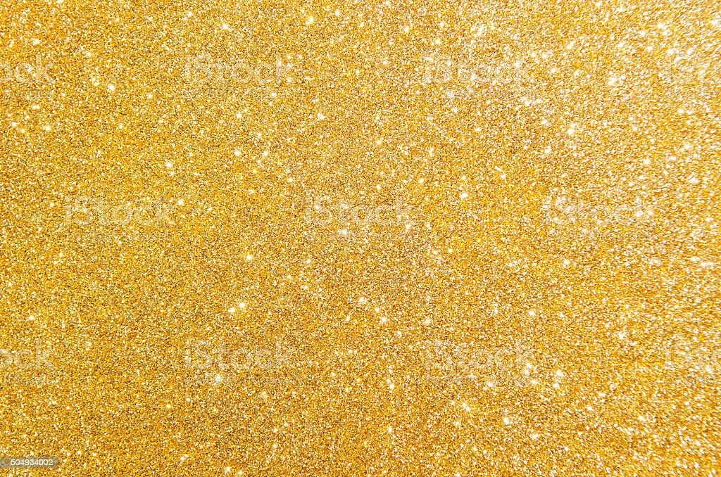Golden glitter texture stock photo