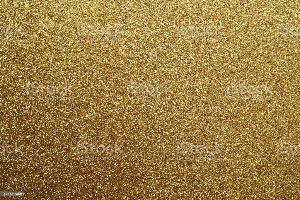 Golden glittering background. stock photo