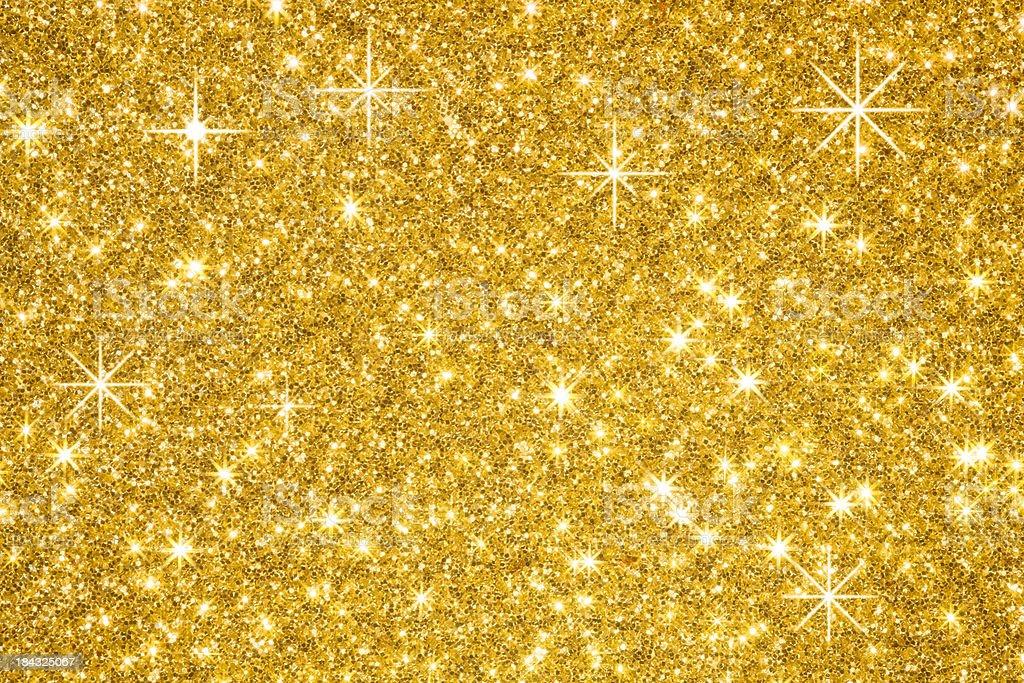 Golden Glitters Background stock photo