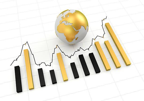 golden globe graph stock photo