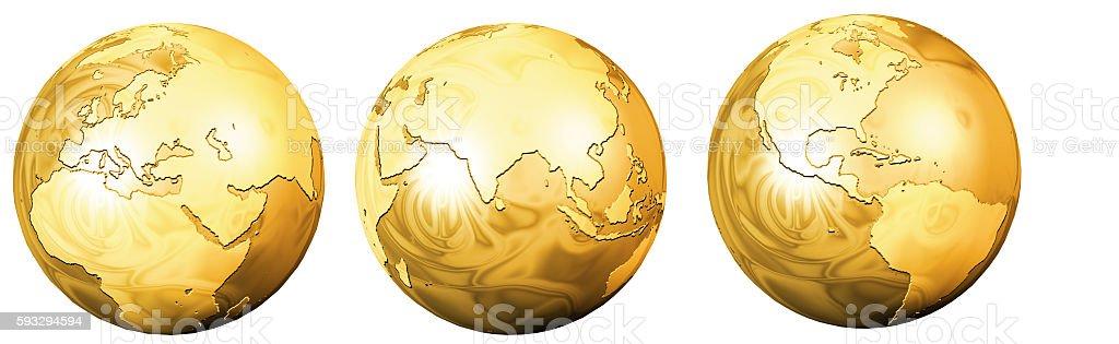 Golden Globe isolated stock photo