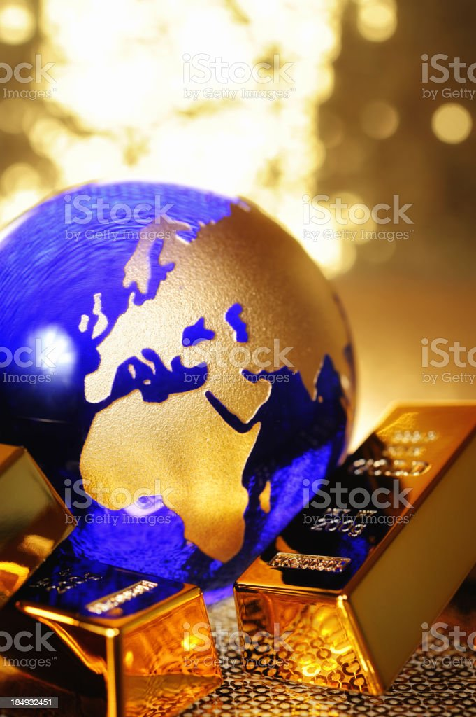 Golden globe royalty-free stock photo
