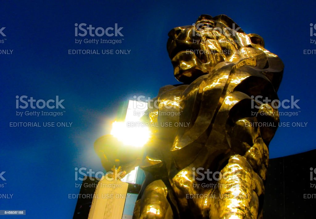 Golden glow stock photo