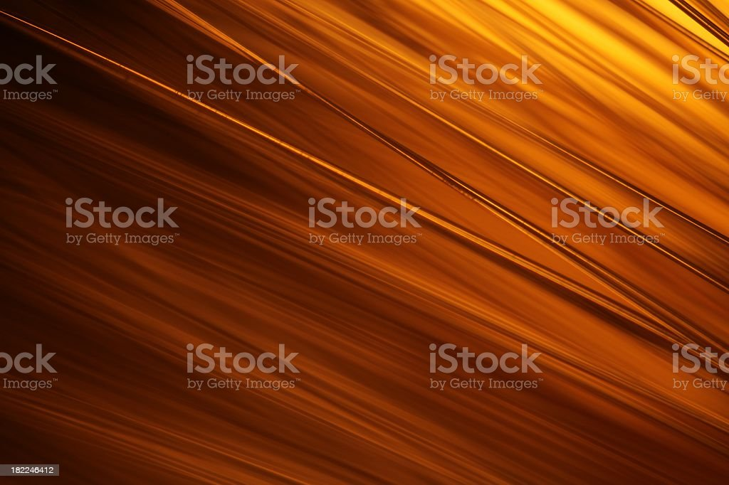 Golden Glowing Light Strands Background royalty-free stock photo