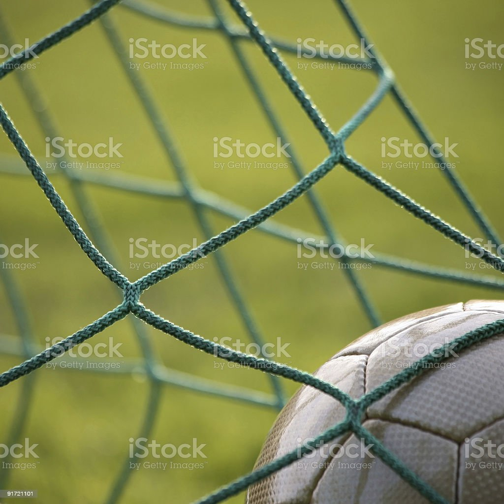 Golden goal 1 stock photo