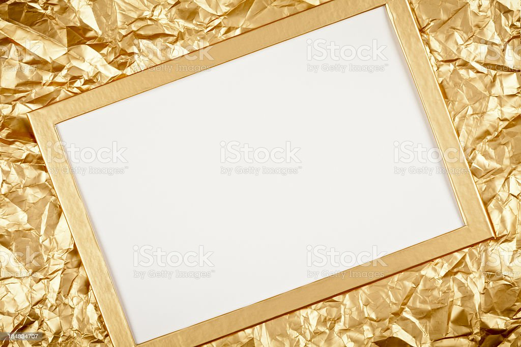 Golden Greeting Card royalty-free stock photo