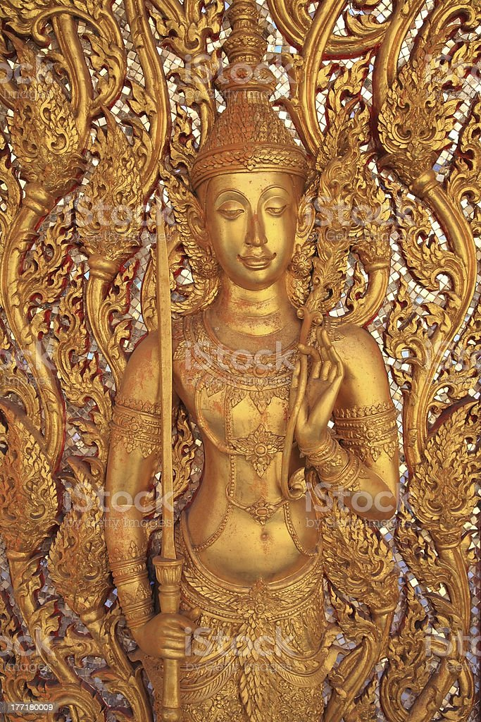 Golden guardian god royalty-free stock photo