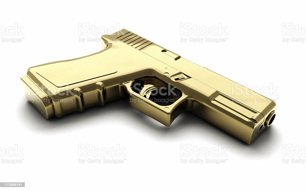 Golden Gun stock photo