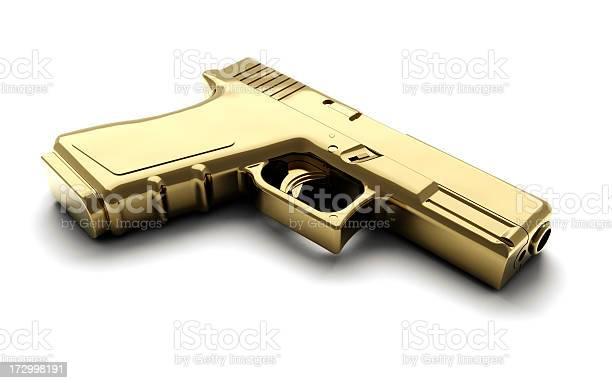 Golden Gun Stock Photo - Download Image Now