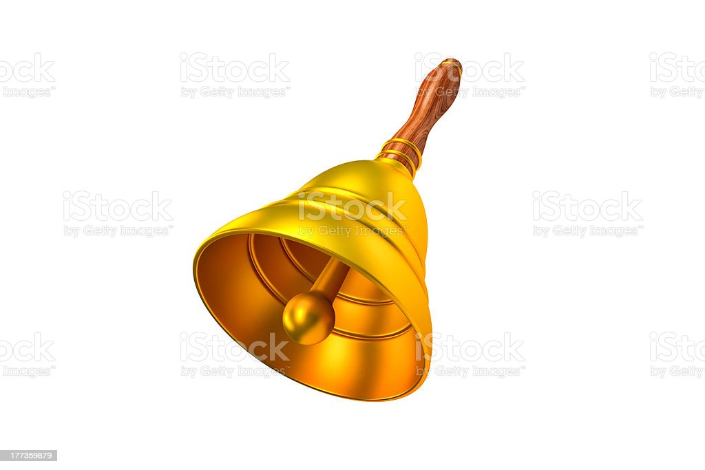 Golden Hand Bell royalty-free stock photo