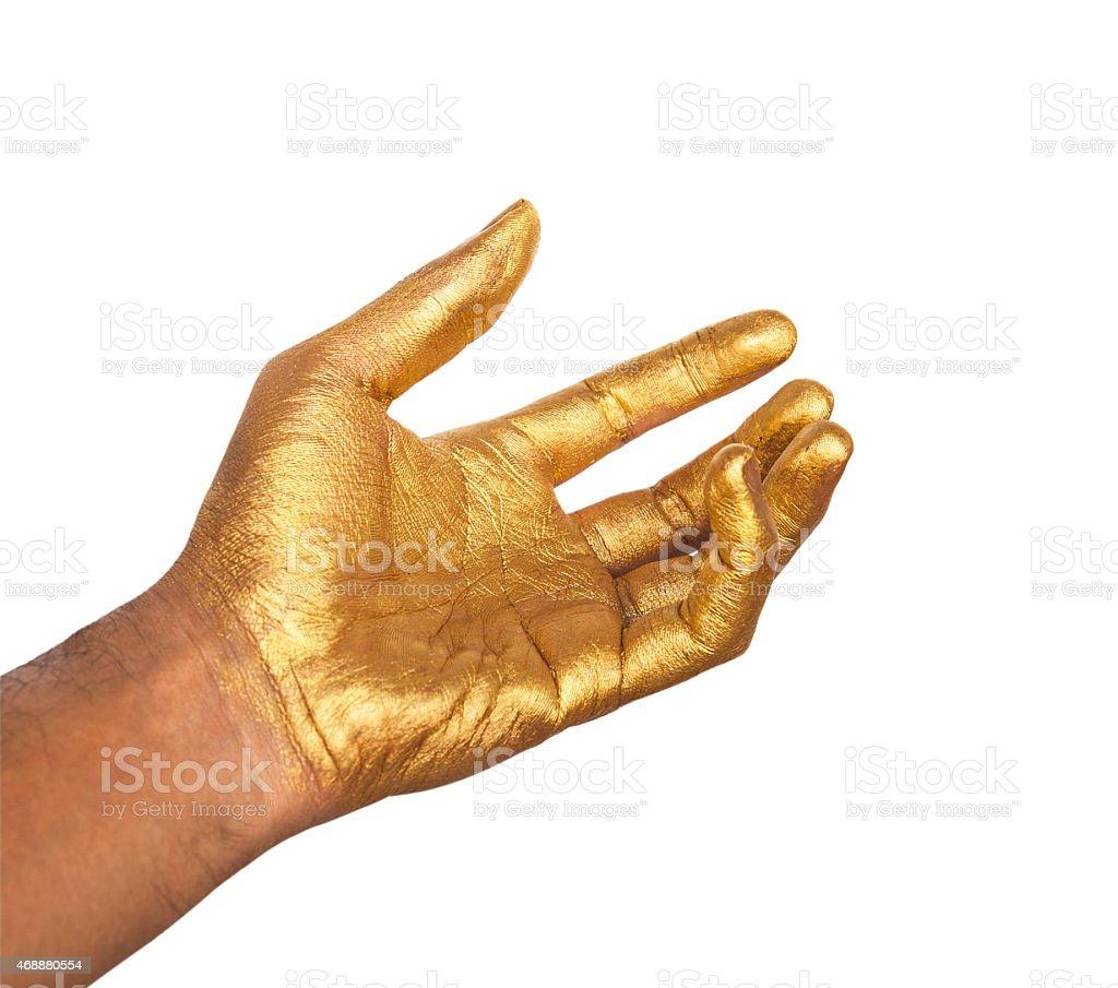Golden hand – Foto
