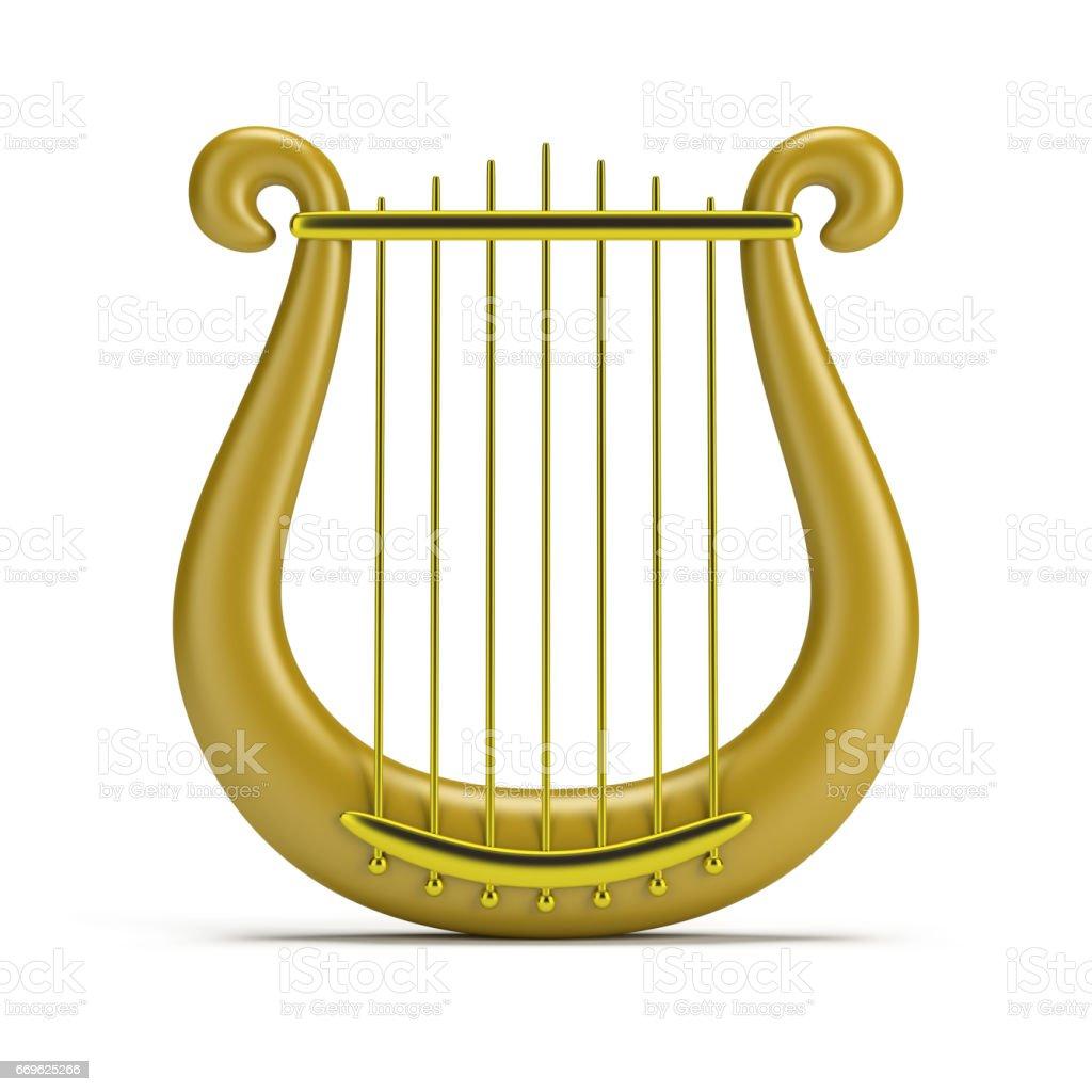 golden harp - foto stock