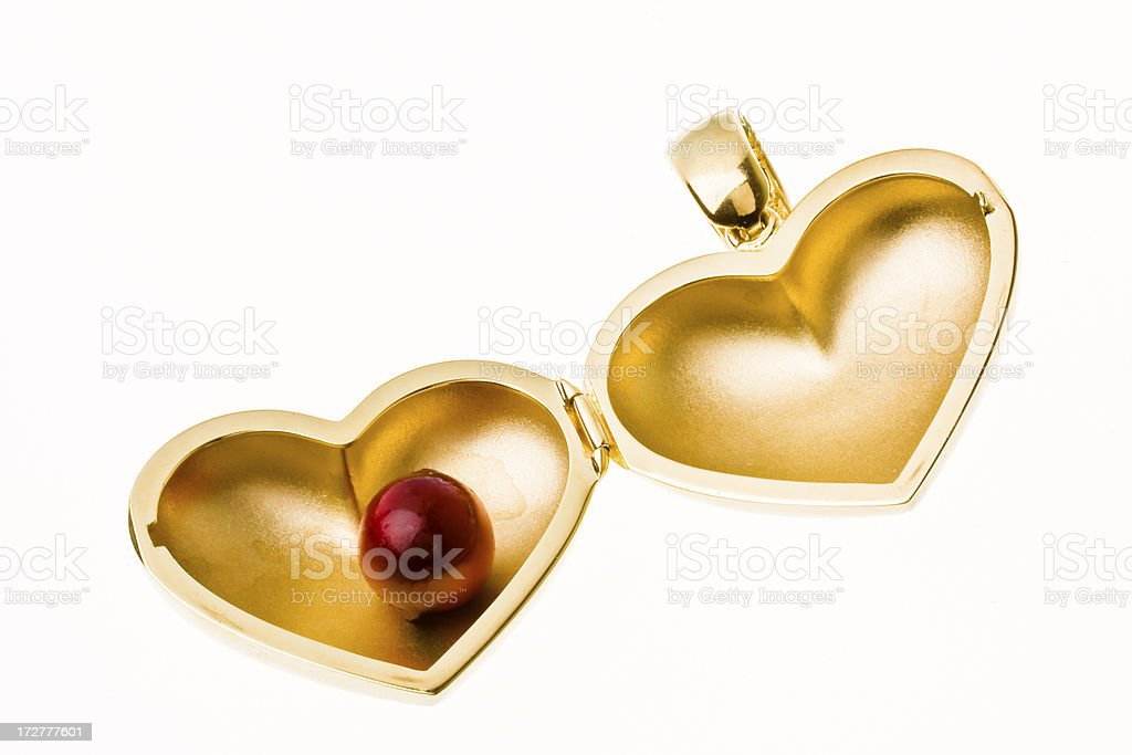 Golden heart royalty-free stock photo