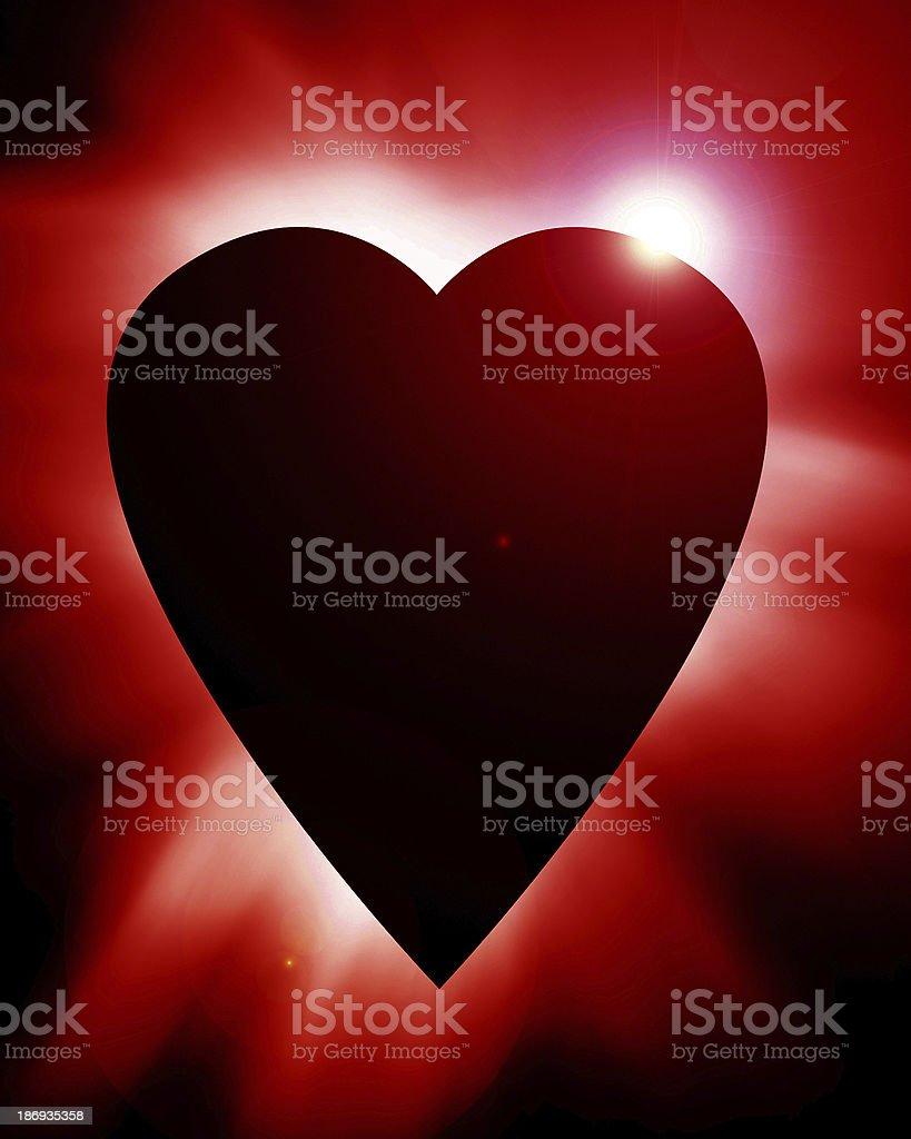 golden heart royalty-free stock photo